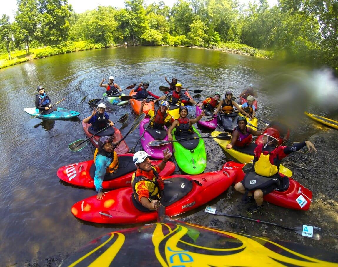 Kayaking Group 57